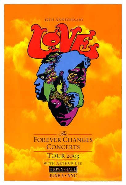 2003 Arthur Lee & Love Forever Changes Tour Poster