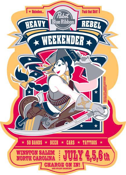 2003 Heavy Rebel Weekender Event Poster