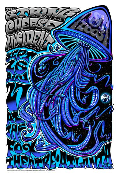 2003 The String Chesse Incident Atlanta Show Poster - Zen Dragon Gallery