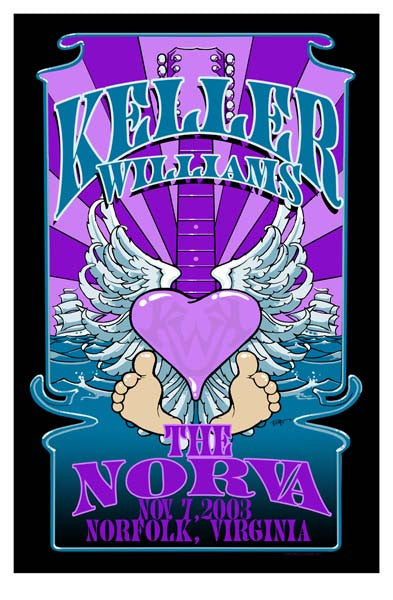2003 Keller Williams Norfolk, VA Show Poster Biffle - Zen Dragon Gallery