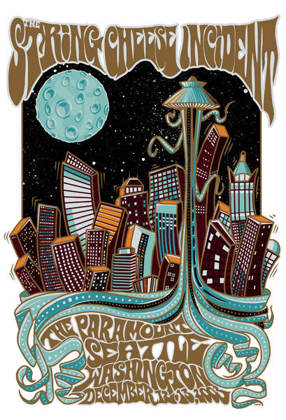 2003 The String Chesse Incident Seattle Show Poster - Zen Dragon Gallery