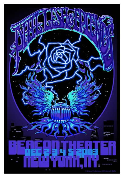 2003 Phil & Friends Beacon Theatre Show Poster - Zen Dragon Gallery