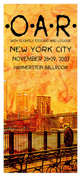 2003 O.A.R. New York City Poster or Handbill - Zen Dragon Gallery