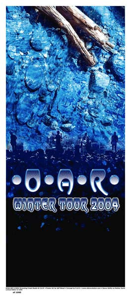 2004 O.A.R. Winter Tour Poster or Handbill - Zen Dragon Gallery