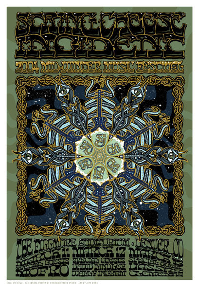 2004 The String Cheese Incident Mid Winter Festival Poster - Zen Dragon Gallery