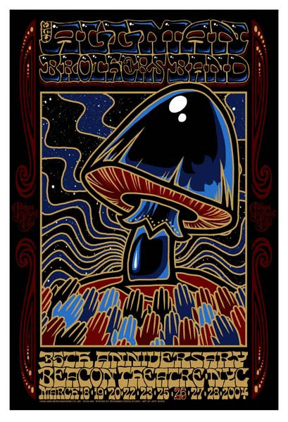 2004 Allman Brothers Band Beacon Theatre Run Poster
