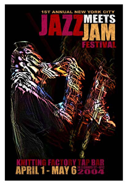 2004 Jazz Meets Jam NYC Poster - Zen Dragon Gallery