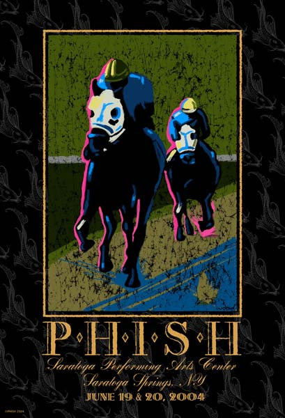 2004 Phish SPAC Saratoga Springs Poster - Zen Dragon Gallery