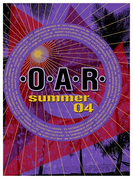 2004 O.A.R. Summer Tour Poster, Orange Edition