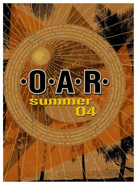 2004 O.A.R. Summer Tour Poster, Orange Edition - Zen Dragon Gallery