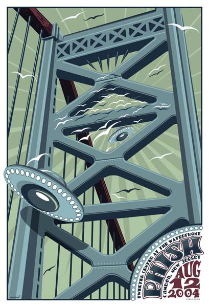 2004 Phish Camden NJ Poster - Zen Dragon Gallery