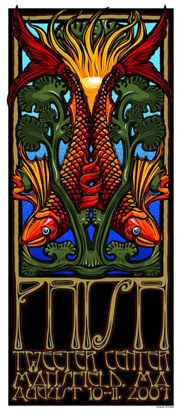 2004 Phish Great Woods Tweeter Center Show Poster