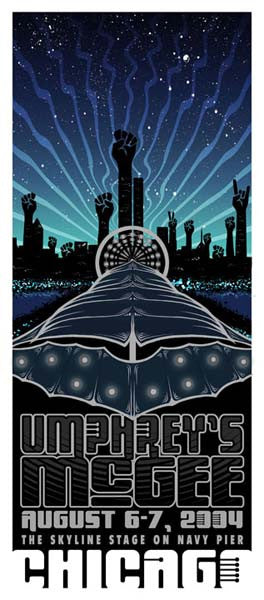 2004 Umphrey's McGee Chicago Skyline Show Poster or Handbill - Zen Dragon Gallery