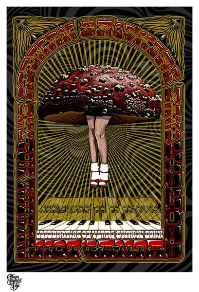 2004 Allman Brothers Band Fox Theatre Show Poster - Zen Dragon Gallery