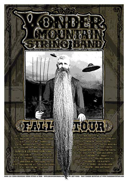 2004 Yonder Mountain String Band Fall Tour Poster - Zen Dragon Gallery