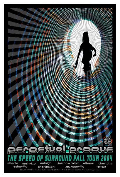 2004 Perpetual Groove Speed of Surround Fall Tour Poster - Zen Dragon Gallery