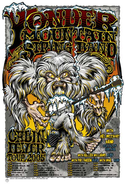 2005 Yonder Mountain String Band Cabin Fever Tour Poster - Zen Dragon Gallery