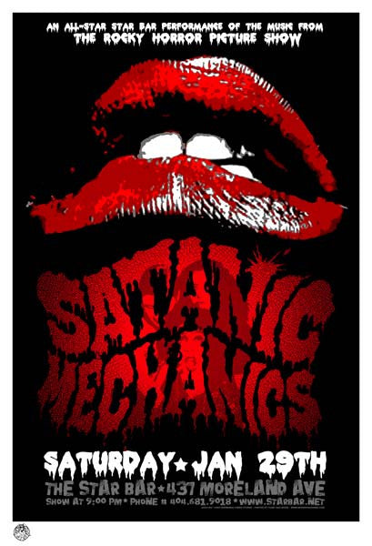 2005 Satanic Mechanics Rocky Horror Tribute Atlanta Show Poster - Zen Dragon Gallery
