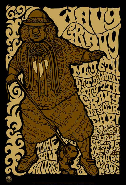 2005 Wavy Gravy Art Exhibit Event Poster - Zen Dragon Gallery