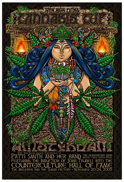 2005 High Times Cannabis Cup Amsterdam Event Poster - Zen Dragon Gallery