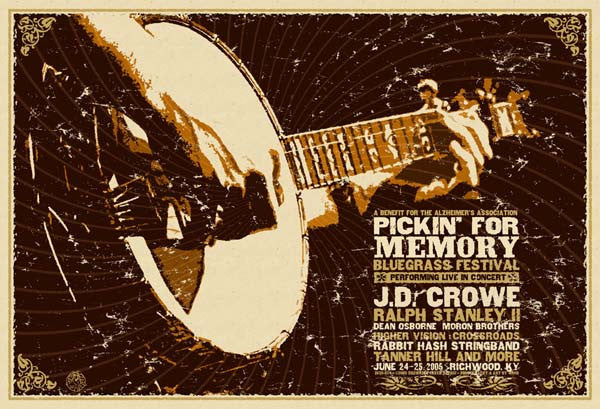 2005 Pickin' For Memory Benefit Event Poster - Zen Dragon Gallery