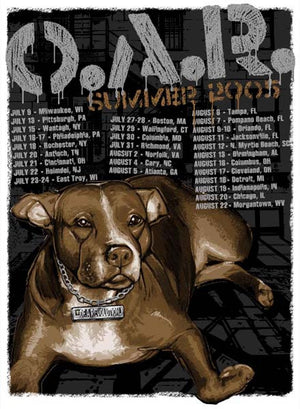 2005 O.A.R. Summer Tour Poster - Zen Dragon Gallery