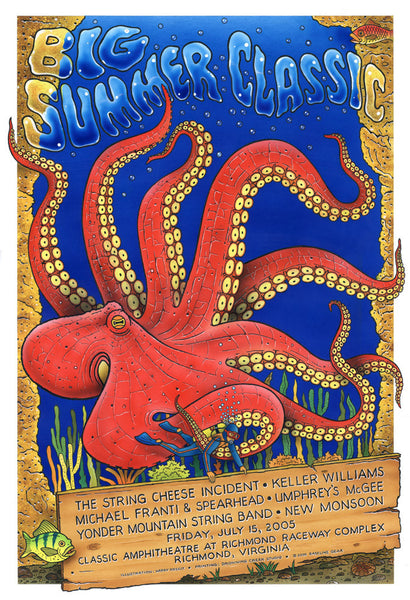 2005 Big Summer Classic Concert Series Richmond VA Show Poster - Zen Dragon Gallery