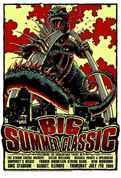 2005 Big Summer Classic Concert Series St. Louis Event Poster - Zen Dragon Gallery