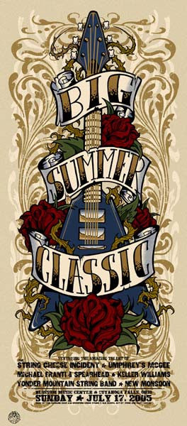 2005 Big Summer Classic Concert Series Ohio Event Poster or Handbill - Zen Dragon Gallery