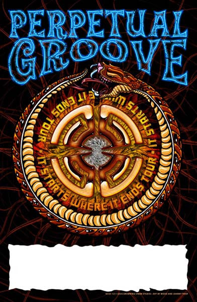 2005 Perpetual Groove Fall Tour Poster - Zen Dragon Gallery