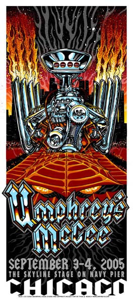 2005 Umphrey's McGee Chicago Skyline Show Poster or Handbill - Zen Dragon Gallery