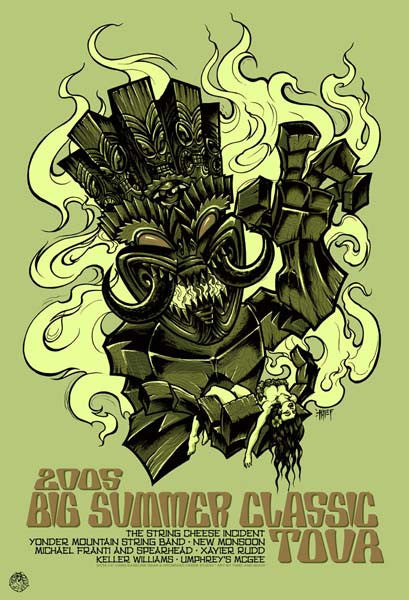 2005 Big Summer Classic Concert Series Tour Poster - Zen Dragon Gallery