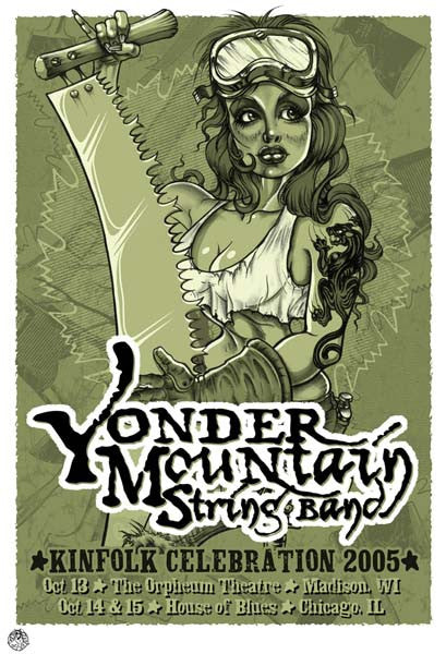 2005 Yonder Mountain String Band Kinfolk Event Poster - Zen Dragon Gallery