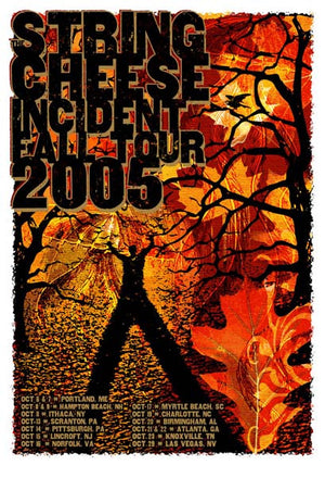2005 The String Cheese Incident Fall Tour Poster - Zen Dragon Gallery
