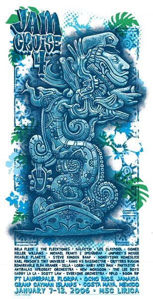 2006 Cloud 9 Adventures Jam Cruise 4 Music Festival Poster or Handbill Strip - Zen Dragon Gallery