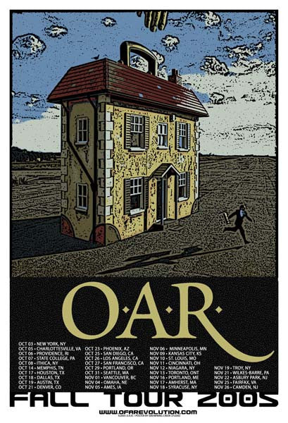 2005 O.A.R. Fall Tour Poster - Zen Dragon Gallery