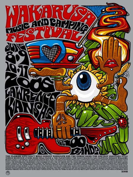 2006 Wakarusa Music Festival Poster Show Edition & Variant - Zen Dragon Gallery