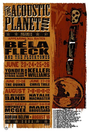 2006 The Acoustic Planet Tour Show Poster - Zen Dragon Gallery