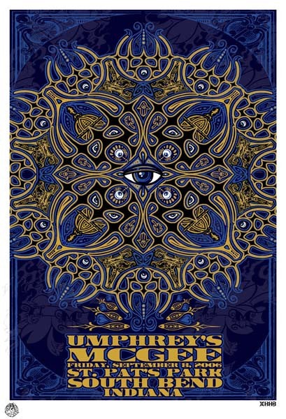 2006 Umphrey's McGee South Bend Notre Dame Show Poster