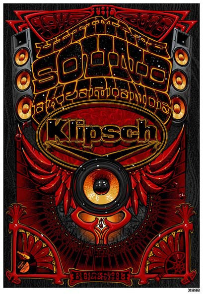 2006 Klipsch Audio Commemorative Anniversary Poster - Zen Dragon Gallery