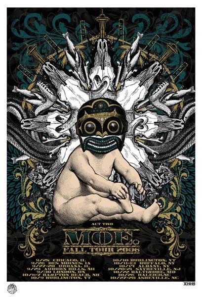 2006 moe. Fall Tour Poster Act Two - Zen Dragon Gallery