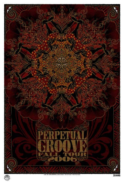 2006 Perpetual Groove Fall Tour Poster - Zen Dragon Gallery