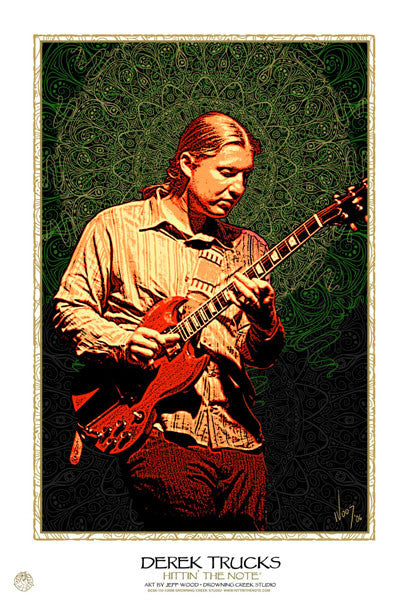 2006 Derek Trucks Hittin' The Note Portrait Print - Zen Dragon Gallery
