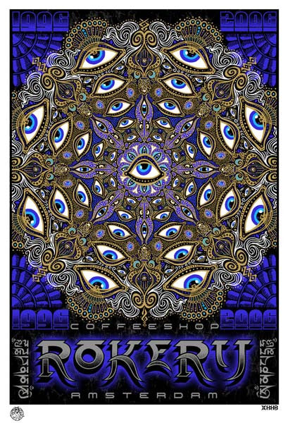 2006 Rokerij Coffee Shop Amsterdam Poster - Zen Dragon Gallery