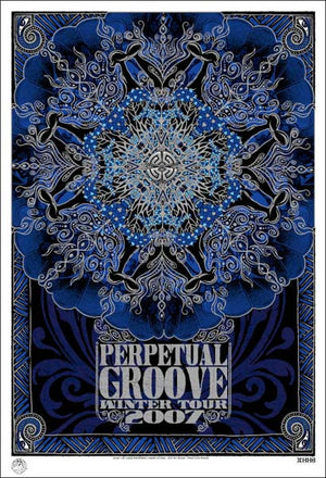2006-2007 Perpetual Groove Winter Tour Poster - Zen Dragon Gallery