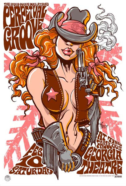 2007 Perpetual Groove Georgia Theatre Cowgirl Show Poster - Zen Dragon Gallery