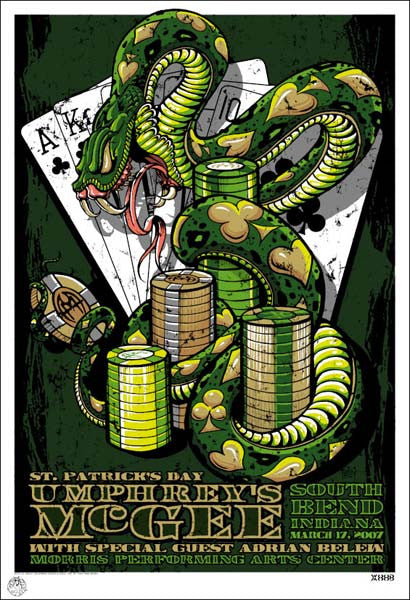 2007 Umphrey's McGee South Bend St. Pat's Show Poster