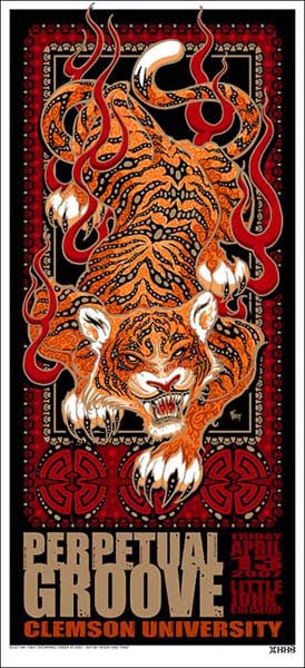 2007 Perpetual Groove Clemson Show Poster