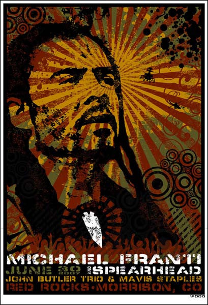 2007 Michael Franti & Spearhead Red Rocks Show Poster - Zen Dragon Gallery
