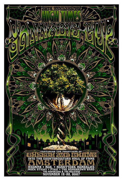 2007 High Times Cannabis Cup Amsterdam Event Poster - Zen Dragon Gallery